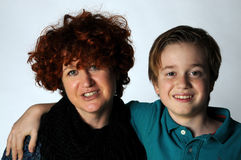 Mother and teenager son Stock Photos