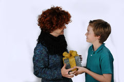 Mother and teenager son Royalty Free Stock Photos