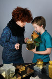 Mother and teenager son Royalty Free Stock Photography
