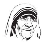 Mother Teresa royalty free illustration