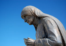 Statue of Mother Teresa in Struga,Macedonia Royalty Free Stock Photo
