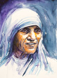 Mother Teresa portrait Royalty Free Stock Photo