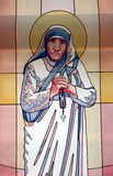 Mother Teresa, stained glass Royalty Free Stock Images