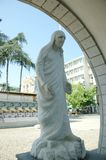 Mother Teresa stone statue in Skopje, Macedonia. In front of Mother Teresa gallery and museum Royalty Free Stock Image