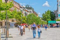 Mother Teresa street in Pristina Stock Images