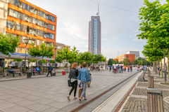 Mother Teresa street in Pristina Royalty Free Stock Photography