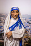 Mother Teresa wax figure of Polonia Wax Museum at Main Market Square. Stock Photos