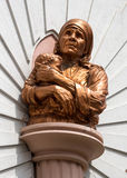 Mother Theresa Statue at Saint Mary's Basilica in Bangalore. Stock Photos