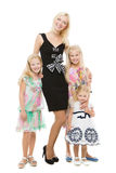 Mother with three daughters Royalty Free Stock Photography