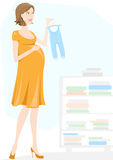 Mother to be, pregnant woman. Mother to be, happy pregnant woman baby shopping Royalty Free Stock Images