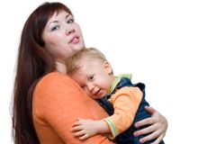 Mother and toddler Stock Images