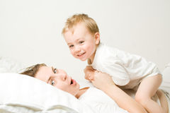 Mother with toddler Stock Photo