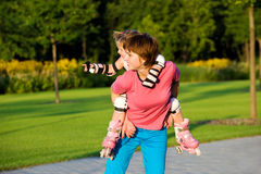Mother and toddler daughter Stock Images