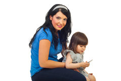 Mother with toddler girl Royalty Free Stock Image