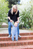Mother and toddler in the park Royalty Free Stock Photography