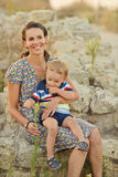 Mother and toddler son Stock Photos
