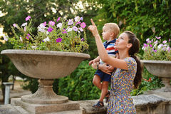 Mother with toddler son Royalty Free Stock Images