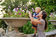 Mother and toddler son Stock Images