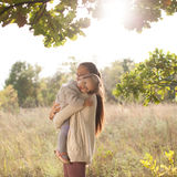 Mother and toddler walking Royalty Free Stock Image