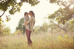 Mother and toddler walking Royalty Free Stock Photo