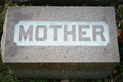 Mother Tombstone Stock Photo