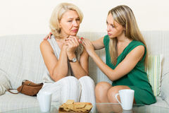 Mother tries reconcile with daughter Royalty Free Stock Images