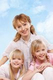 Mother and twins Royalty Free Stock Photo