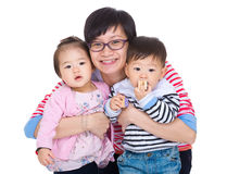 Mother with twins Stock Image