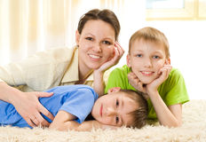 Mother with  two children Royalty Free Stock Photography