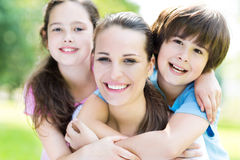 Mother with two children Royalty Free Stock Photo