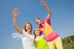 Mother and two daughter fun Royalty Free Stock Images