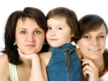 Mother and two daughters Stock Images