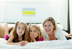 Mother With Two Daughters Stock Image