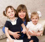 Mother with two daughters Royalty Free Stock Photography