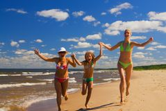 Mother and two daughters Royalty Free Stock Photo
