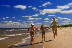 Mother and two daughters Stock Image