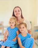 Mother with two daughters. Stock Photography