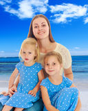 Mother with two daughters. Royalty Free Stock Images