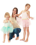 Mother with two daughters. Stock Photos
