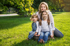 Mother and two daughters Stock Photography