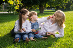 Mother and two daughters Royalty Free Stock Images