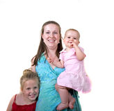 Mother and Two Girls Royalty Free Stock Photo