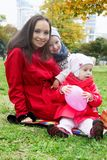 Mother and two lovely children Royalty Free Stock Images