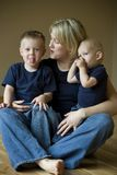 Mother And Two Sons Stock Photo