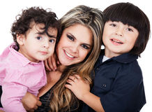 Mother with two sons Royalty Free Stock Photos