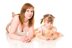Mother with two years daughter Stock Photos