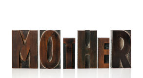 Mother in vintage letters Royalty Free Stock Photography