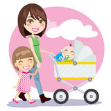 Mother Walking stock illustration
