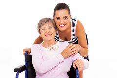 Mother wheelchair daughter Stock Photography