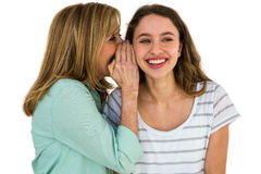 mother whispering something Royalty Free Stock Photos